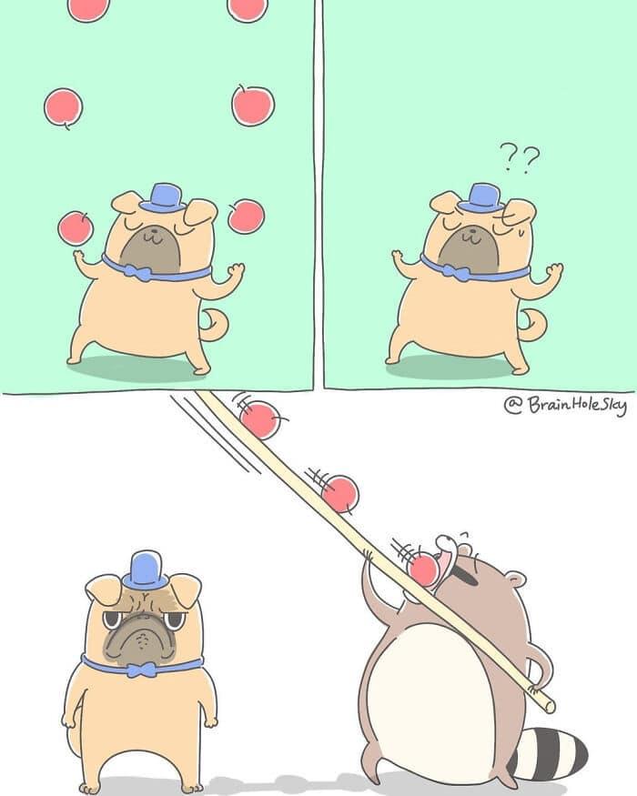 Artista taiwanês ilustra personagens fofinhos em situações engraçadas 4