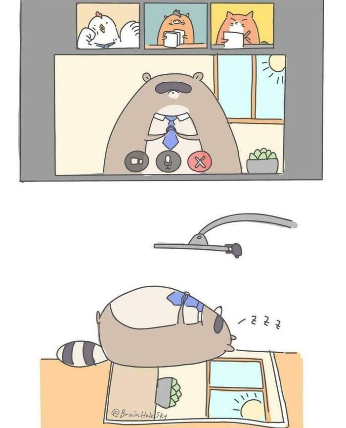 Artista taiwanês ilustra personagens fofinhos em situações engraçadas 7