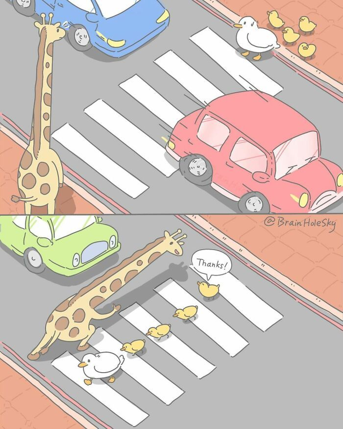 Artista taiwanês ilustra personagens fofinhos em situações engraçadas 9