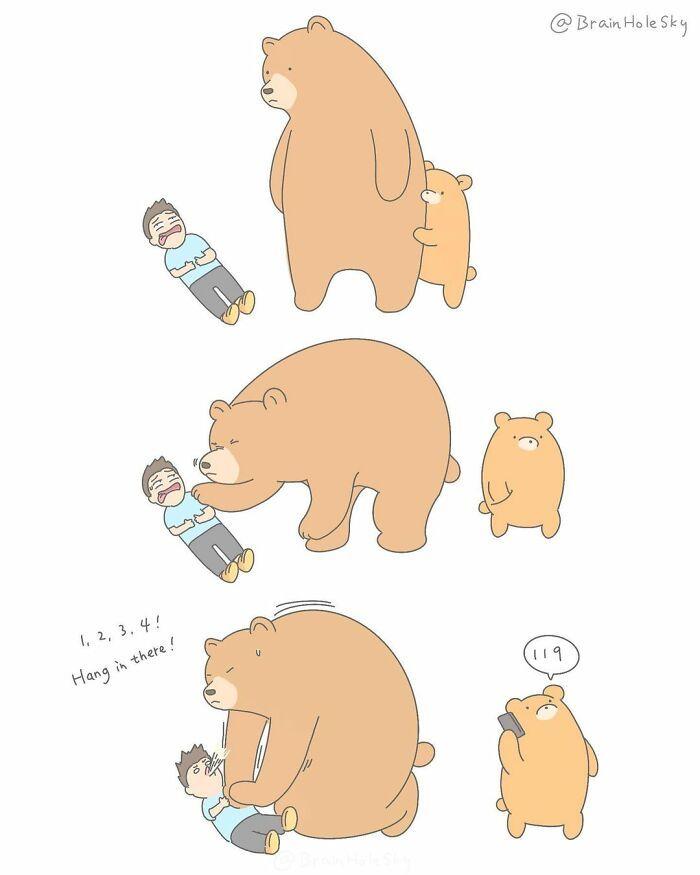 Artista taiwanês ilustra personagens fofinhos em situações engraçadas 15
