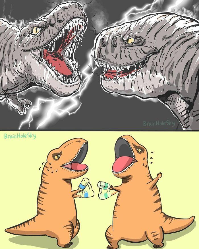 Artista taiwanês ilustra personagens fofinhos em situações engraçadas 18