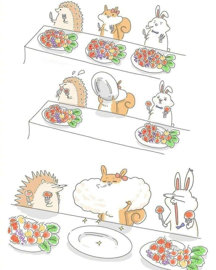 Artista taiwanês ilustra personagens fofinhos em situações engraçadas 19