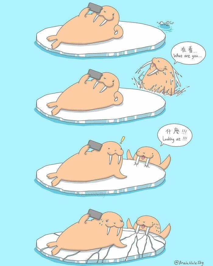 Artista taiwanês ilustra personagens fofinhos em situações engraçadas 22