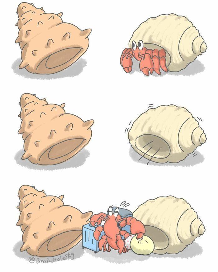 Artista taiwanês ilustra personagens fofinhos em situações engraçadas 27