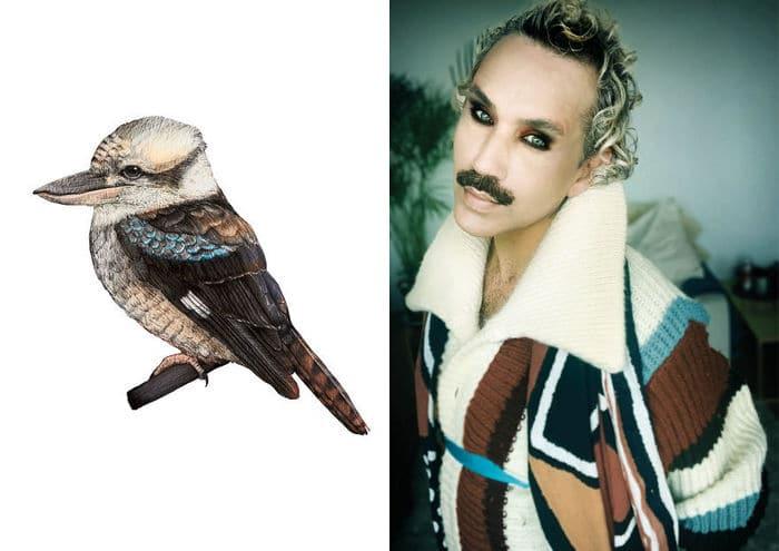 Eu crio estes looks de moda e maquiagem inspirados nos pássaros que desenho 8