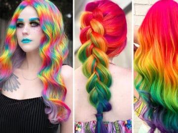 Um cabeleireiro australiano que transforma o cabelo em arco-íris 38