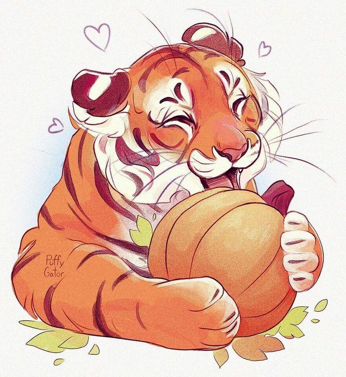 Artista cria ilustrações fofas de animais selvagens e animais de estimação 9