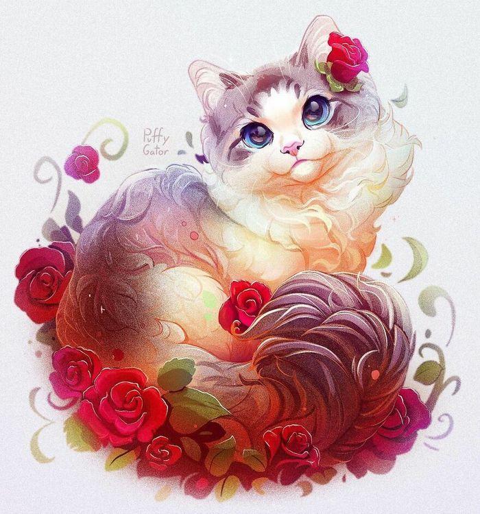 Artista cria ilustrações fofas de animais selvagens e animais de estimação 10