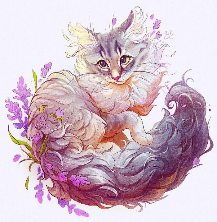 Artista cria ilustrações fofas de animais selvagens e animais de estimação 11