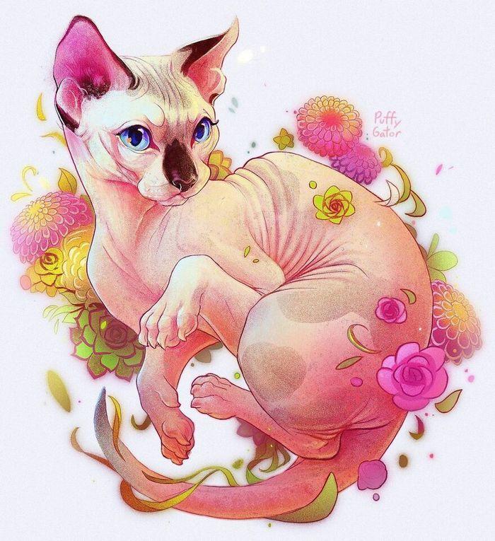 Artista cria ilustrações fofas de animais selvagens e animais de estimação 12