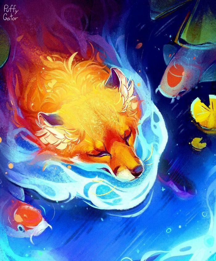 Artista cria ilustrações fofas de animais selvagens e animais de estimação 32