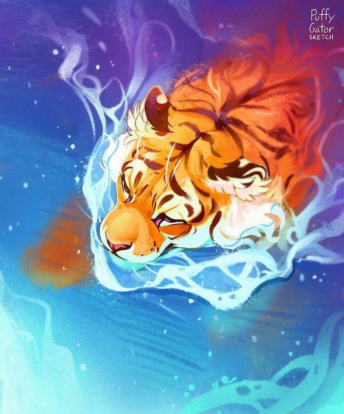 Artista cria ilustrações fofas de animais selvagens e animais de estimação 33