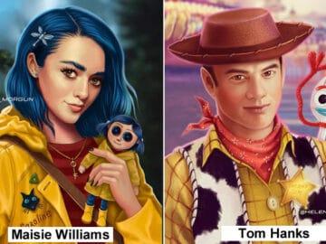 Artista russo mostra quais celebridades que deveria interpretar os personagens de animação 2