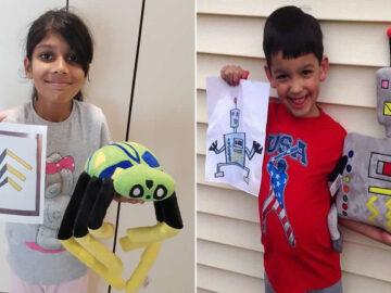 16 brinquedos criando a partir de desenhos feitos por crianças 3