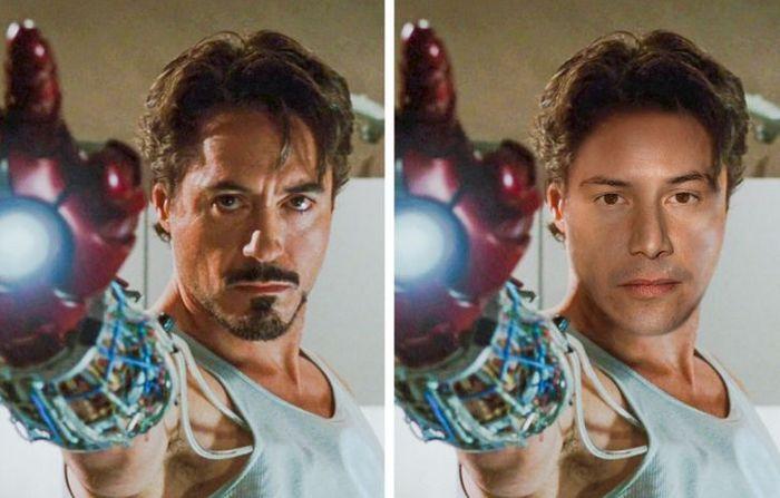 Como seriam os 12 super-heróis se fossem interpretados por Keanu Reeves 2