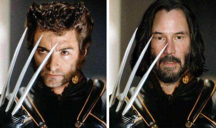 Como seriam os 12 super-heróis se fossem interpretados por Keanu Reeves 7