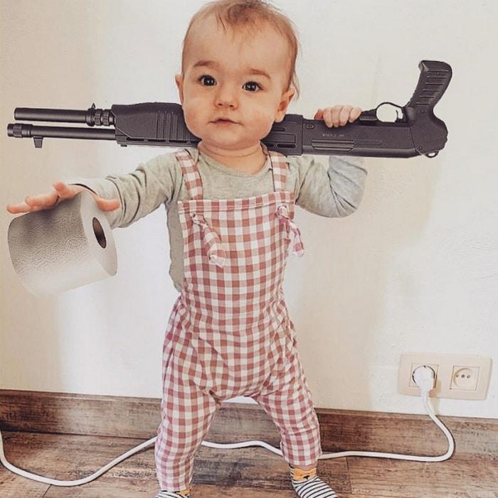 Pai usa Photoshop para por seu filho em situações de perigo para assustar os parentes 14