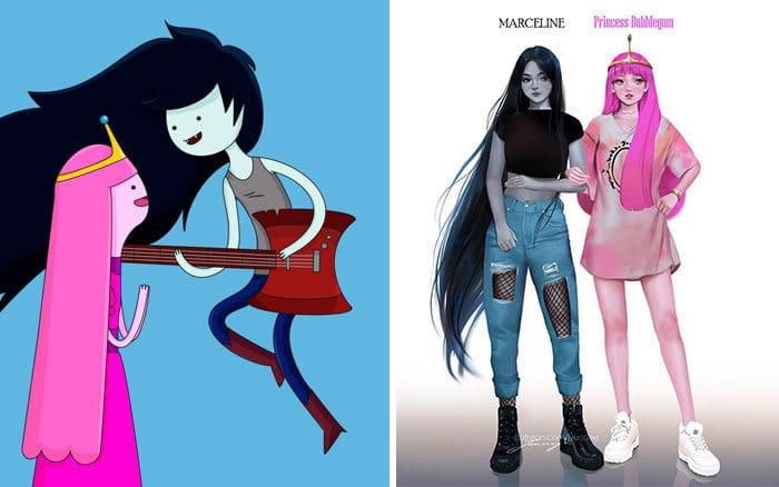 Personagens famosos recriados por uma artista coreana em seu próprio estilo 12
