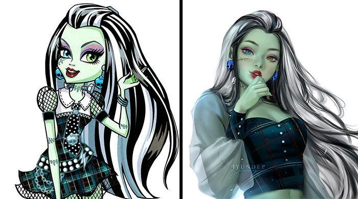 Personagens famosos recriados por uma artista coreana em seu próprio estilo 19