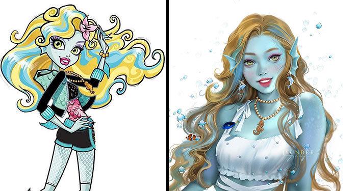 Personagens famosos recriados por uma artista coreana em seu próprio estilo 30