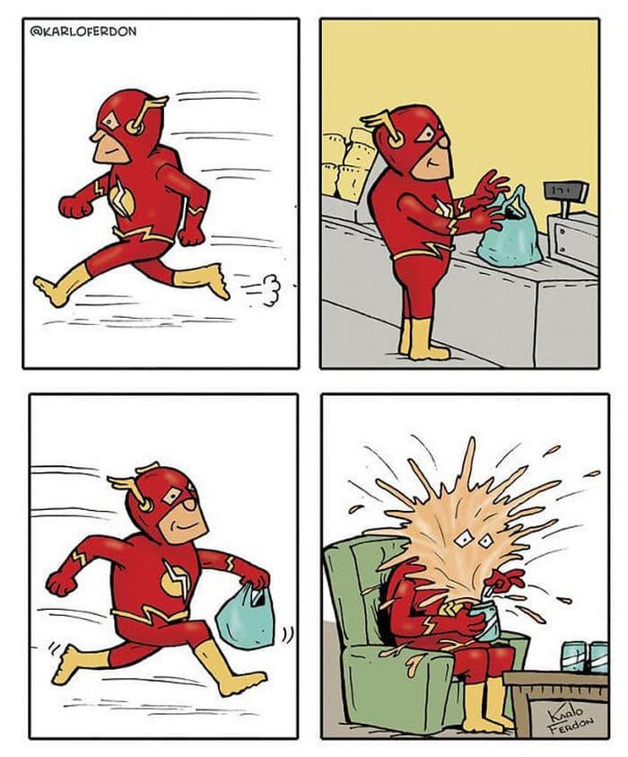 Artista mostra o dia a dia não tão glamoroso dos super-heróis 5