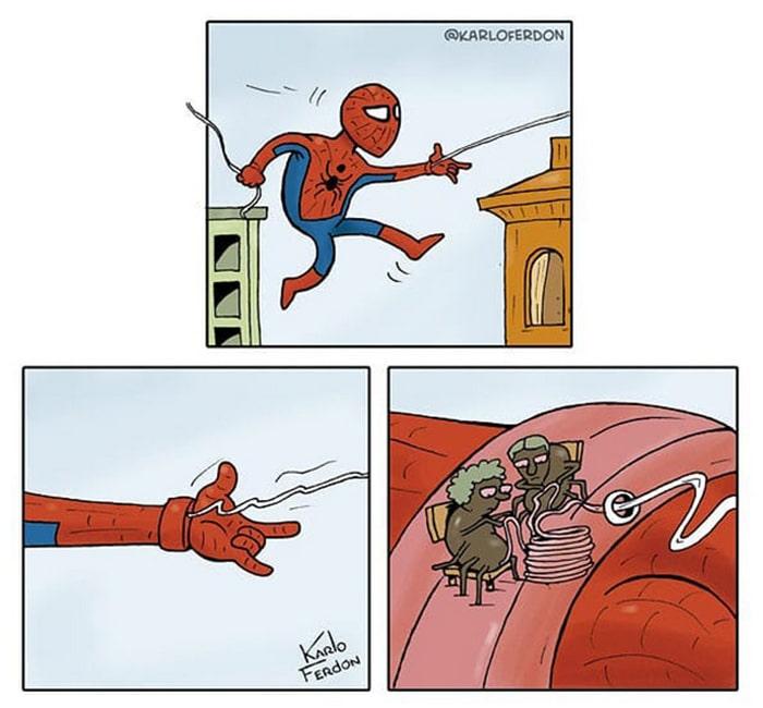 Artista mostra o dia a dia não tão glamoroso dos super-heróis 13