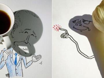 Um artista belga usa sombras para dar vida a objetos 7