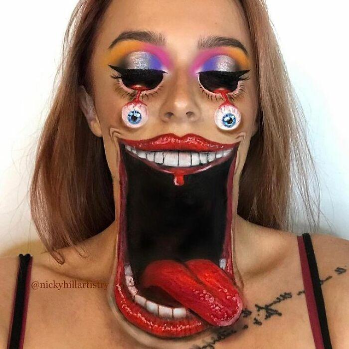 Artista de maquiagem se transforma em qualquer celebridade ou ilusão de ótica que ela deseja 3
