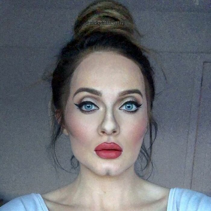 Artista de maquiagem se transforma em qualquer celebridade ou ilusão de ótica que ela deseja 6