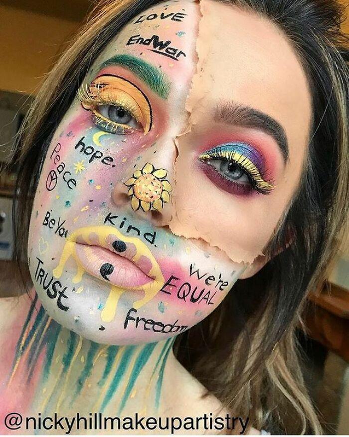 Artista de maquiagem se transforma em qualquer celebridade ou ilusão de ótica que ela deseja 13