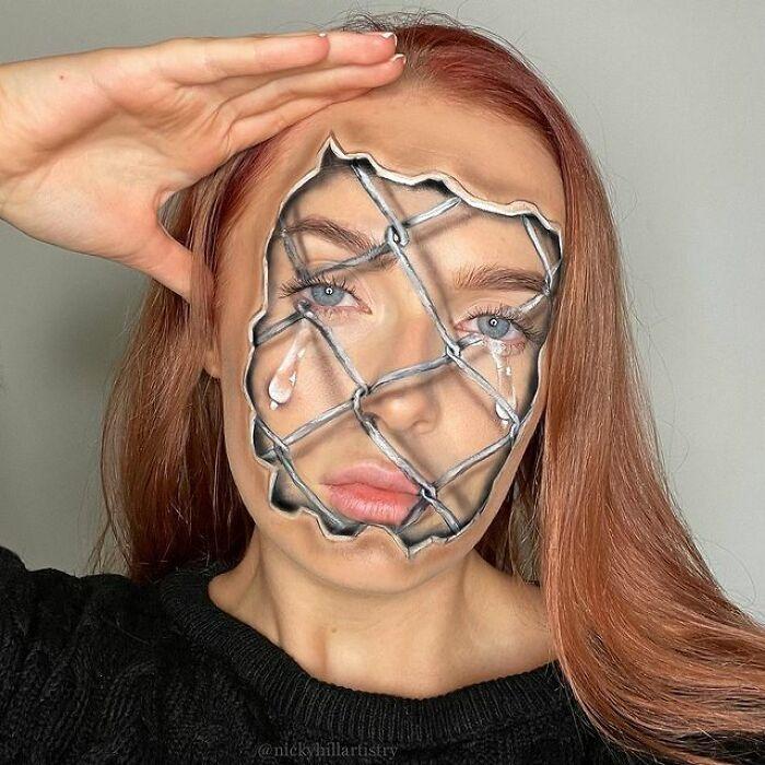 Artista de maquiagem se transforma em qualquer celebridade ou ilusão de ótica que ela deseja 16