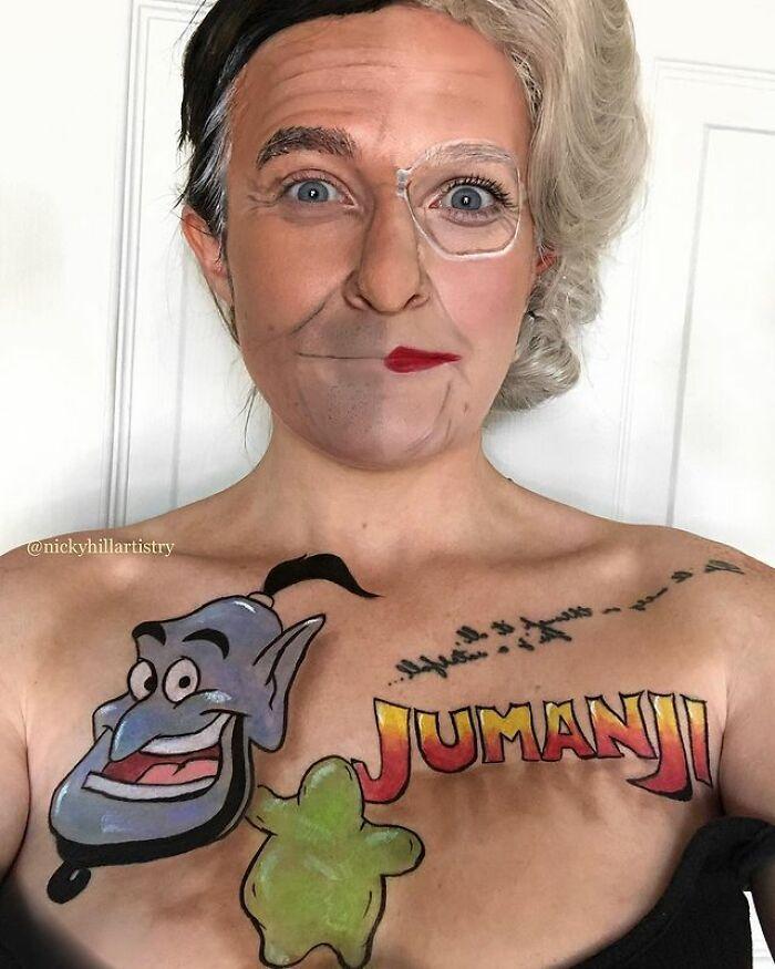 Artista de maquiagem se transforma em qualquer celebridade ou ilusão de ótica que ela deseja 21