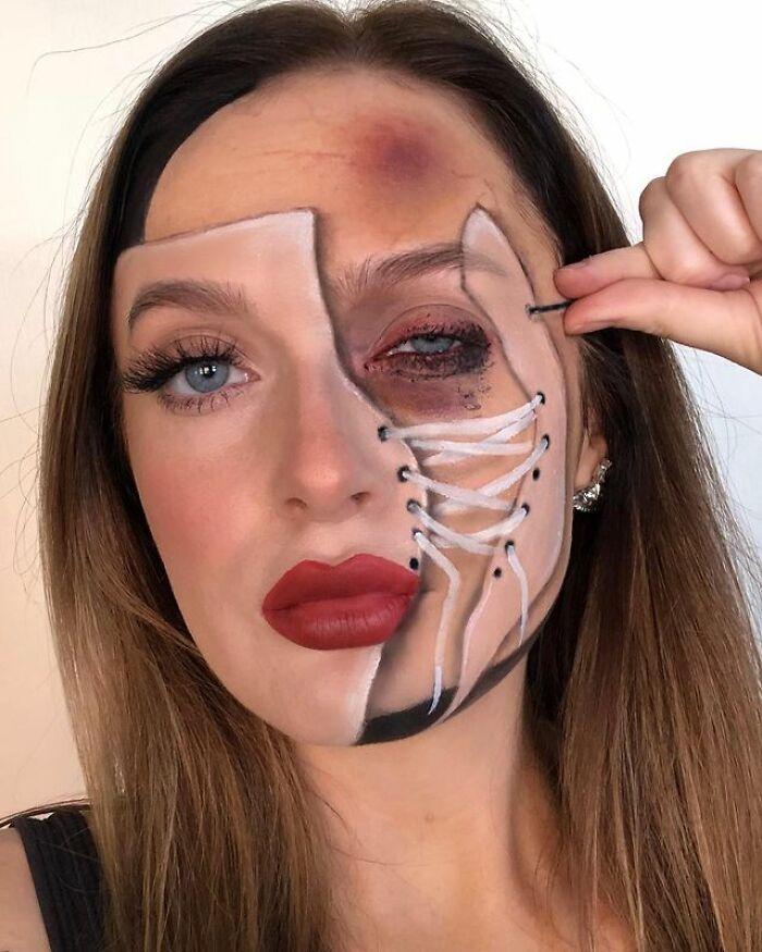 Artista de maquiagem se transforma em qualquer celebridade ou ilusão de ótica que ela deseja 22