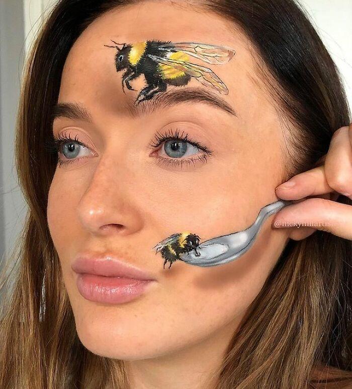Artista de maquiagem se transforma em qualquer celebridade ou ilusão de ótica que ela deseja 28