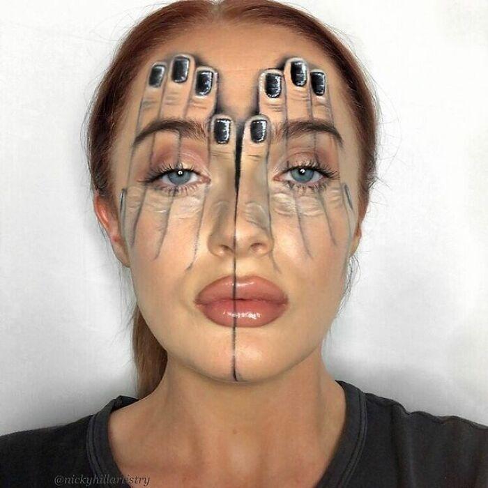 Artista de maquiagem se transforma em qualquer celebridade ou ilusão de ótica que ela deseja 31