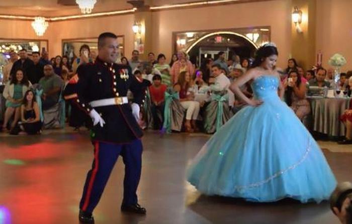Incrível apresentação de dança pai e filha que impressiona os convidados 3