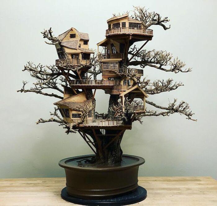 24 fantásticas casas na árvore de bonsai 2