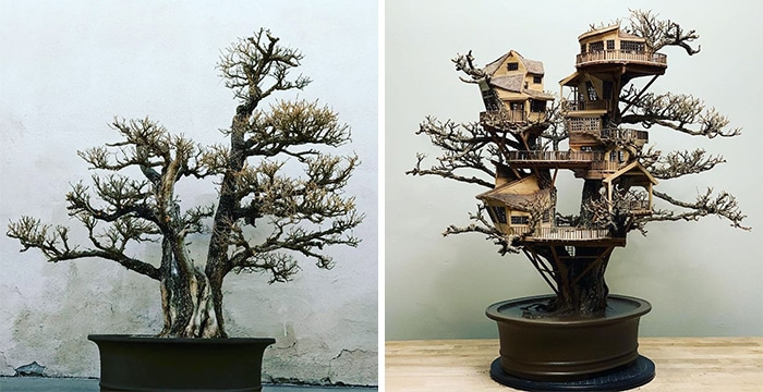 24 fantásticas casas na árvore de bonsai 5