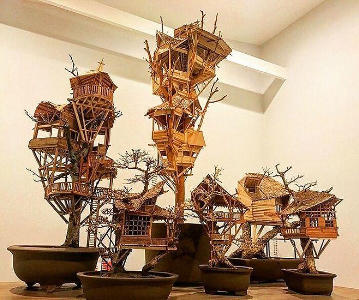 24 fantásticas casas na árvore de bonsai 12