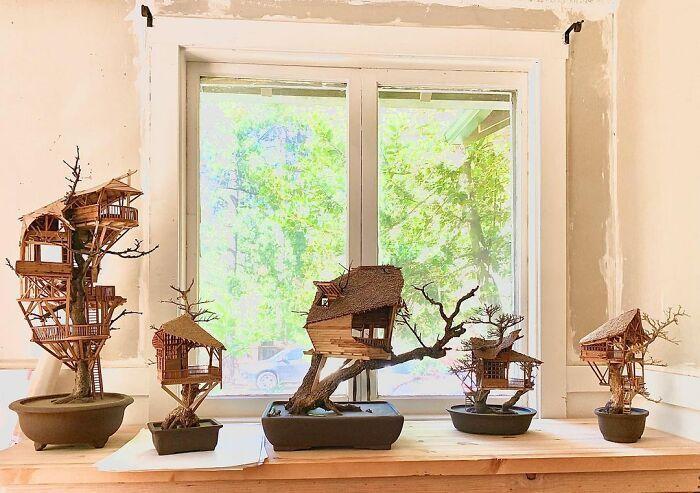 24 fantásticas casas na árvore de bonsai 15