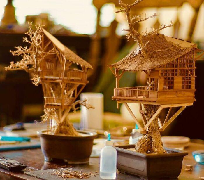24 fantásticas casas na árvore de bonsai 16