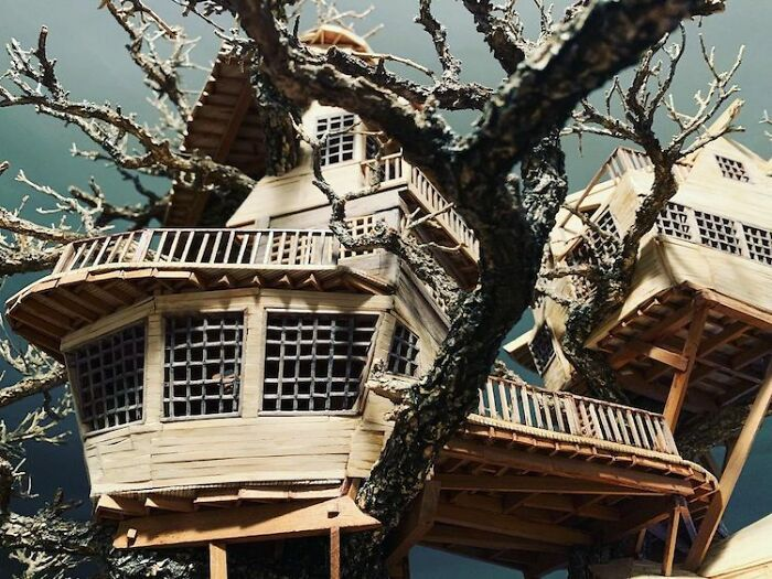 24 fantásticas casas na árvore de bonsai 18
