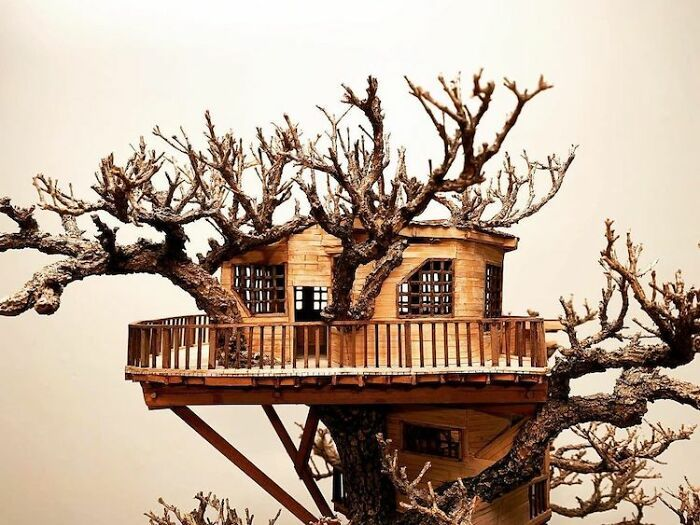 24 fantásticas casas na árvore de bonsai 21