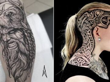 52 melhores tatuagem Viking e Nórdica para você se inspirar 47