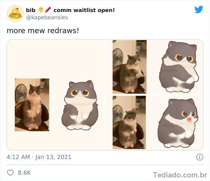 Bib transforma fotos engraçadas de animais em desenhos fofos 11