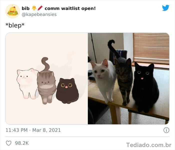 Bib transforma fotos engraçadas de animais em desenhos fofos 22