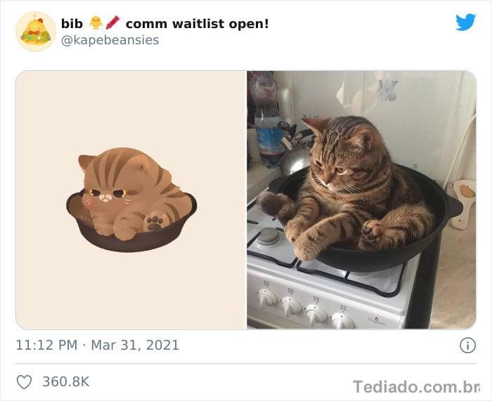 Bib transforma fotos engraçadas de animais em desenhos fofos 30