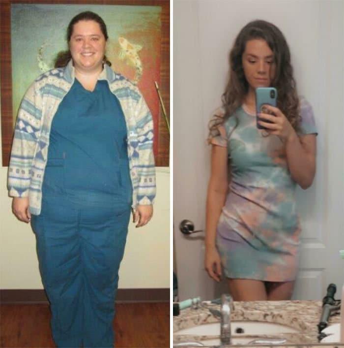 42 exemplos inspiradores de perda de peso que mostram o que a força de vontade e o trabalho árduo podem fazer 16