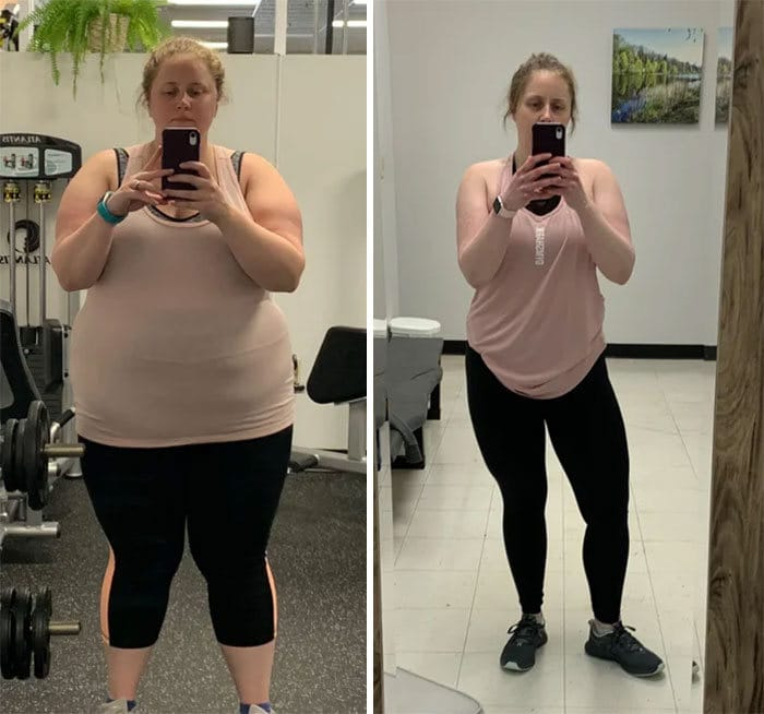 42 exemplos inspiradores de perda de peso que mostram o que a força de vontade e o trabalho árduo podem fazer 25