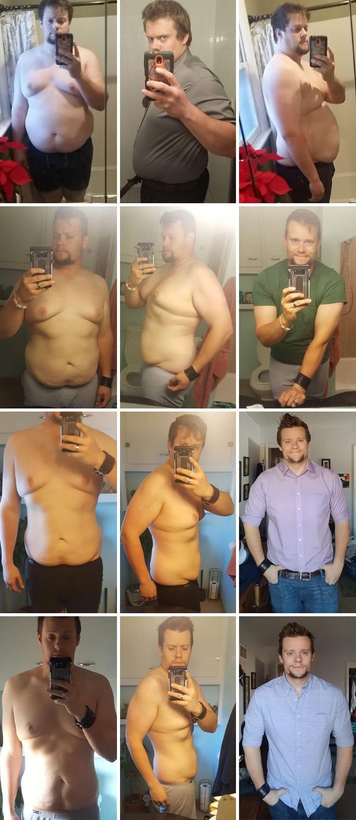 42 exemplos inspiradores de perda de peso que mostram o que a força de vontade e o trabalho árduo podem fazer 37